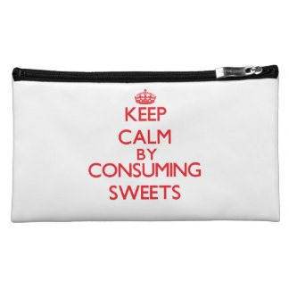 Keep calm by consuming Sweets Makeup Bags