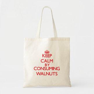 Keep calm by consuming Walnuts Tote Bag