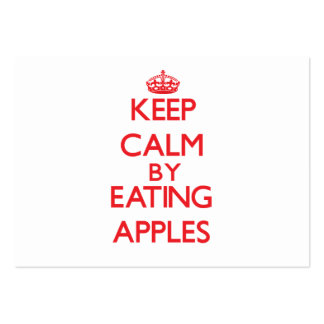 Keep calm by eating Apples Large Business Cards (Pack Of 100)
