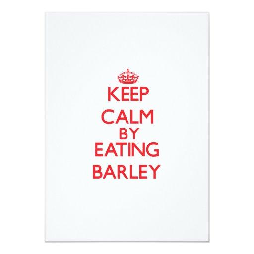 Keep calm by eating Barley 5x7 Paper Invitation Card