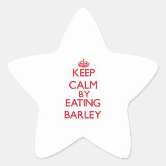 Keep calm by eating Barley Sticker