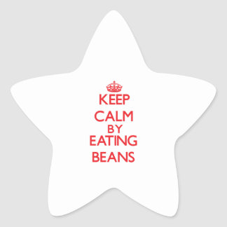 Keep calm by eating Beans Stickers