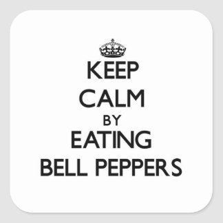 Keep calm by eating Bell Peppers Stickers