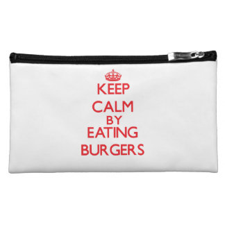 Keep calm by eating Burgers Cosmetic Bag