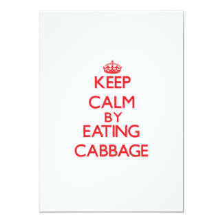 Keep calm by eating Cabbage Personalized Invite