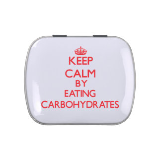 Keep calm by eating Carbohydrates Jelly Belly Candy Tin