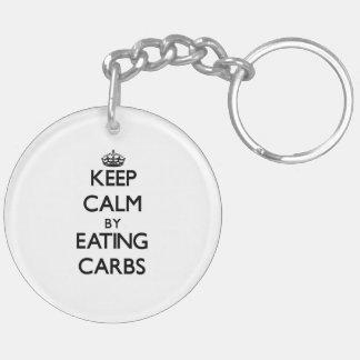 Keep calm by eating Carbs Acrylic Keychain