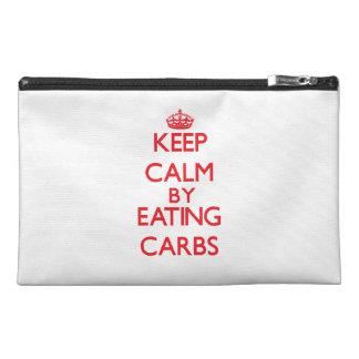 Keep calm by eating Carbs Travel Accessories Bag