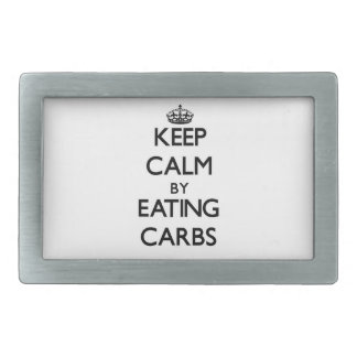 Keep calm by eating Carbs Belt Buckles