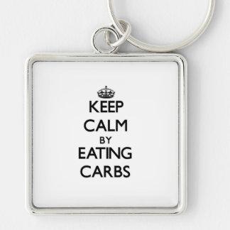 Keep calm by eating Carbs Key Chains