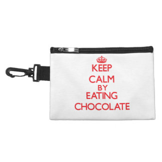 Keep calm by eating Chocolate Accessory Bags
