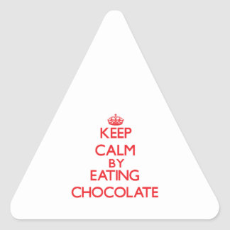 Keep calm by eating Chocolate Sticker