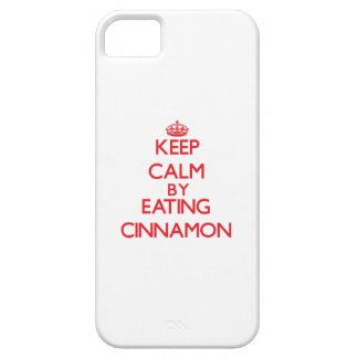 Keep calm by eating Cinnamon iPhone 5 Cases