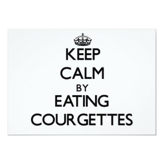 Keep calm by eating Courgettes 5x7 Paper Invitation Card