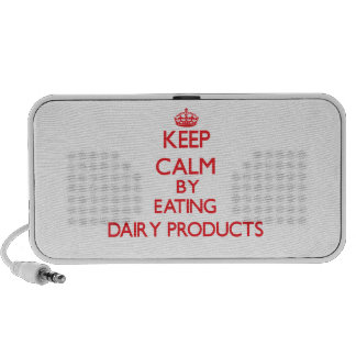 Keep calm by eating Dairy Products Travel Speakers