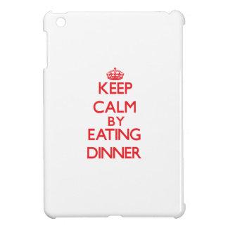 Keep calm by eating Dinner iPad Mini Covers