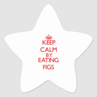 Keep calm by eating Figs Sticker