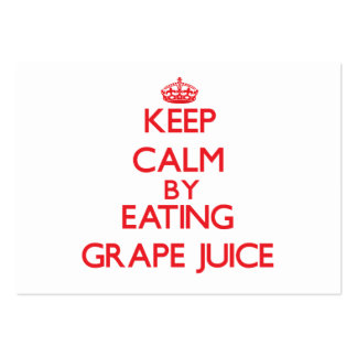 Keep calm by eating Grape Juice Business Card Template