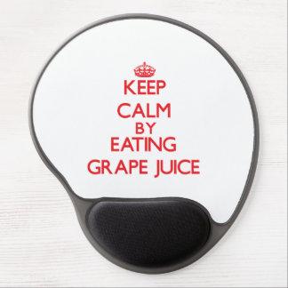 Keep calm by eating Grape Juice Gel Mousepad