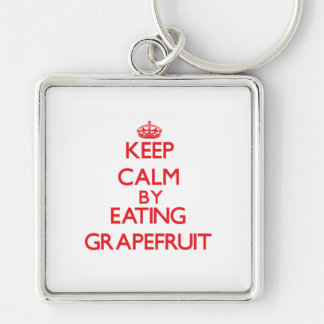 Keep calm by eating Grapefruit Key Chain