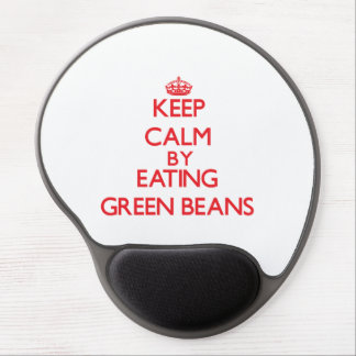 Keep calm by eating Green Beans Gel Mouse Mats