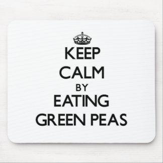 Keep calm by eating Green Peas Mousepad