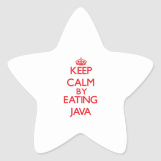 Keep calm by eating Java Stickers