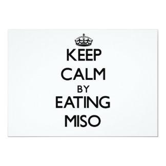 "Keep calm by eating Miso 5"" X 7"" Invitation Card"