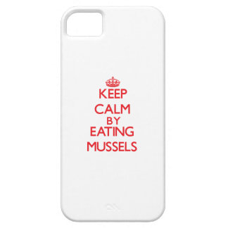 Keep calm by eating Mussels iPhone 5 Cases