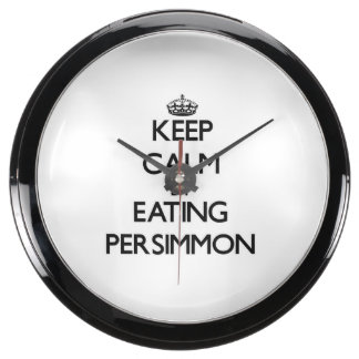 Keep calm by eating Persimmon Aqua Clock