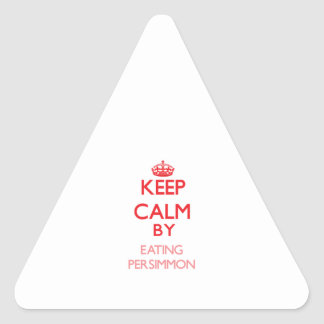 Keep calm by eating Persimmon Sticker