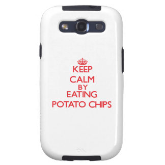 Keep calm by eating Potato Chips Galaxy S3 Covers
