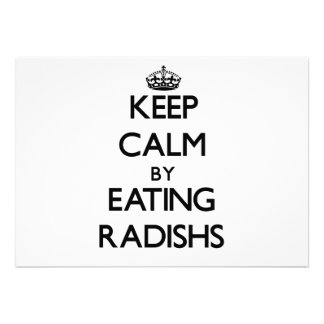 Keep calm by eating Radishs Invitations