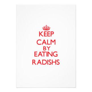 Keep calm by eating Radishs Invites