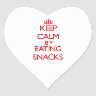 Keep calm by eating Snacks Sticker