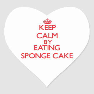 Keep calm by eating Sponge Cake Stickers
