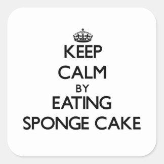 Keep calm by eating Sponge Cake Sticker