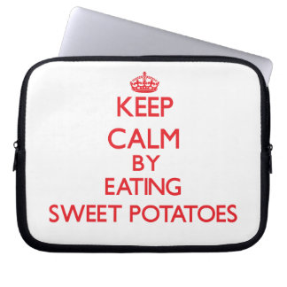 Keep calm by eating Sweet Potatoes Laptop Computer Sleeves