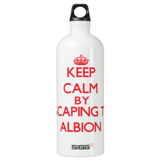 Keep calm by escaping to Albion Illinois SIGG Traveler 1.0L Water Bottle