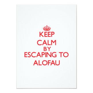 "Keep calm by escaping to Alofau Samoa 5"" X 7"" Invitation Card"