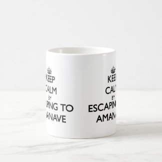 Keep calm by escaping to Amanave Samoa Coffee Mug