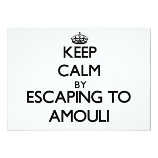 "Keep calm by escaping to Amouli Samoa 5"" X 7"" Invitation Card"