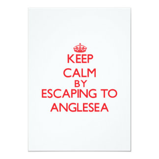 Keep calm by escaping to Anglesea New Jersey 5x7 Paper Invitation Card