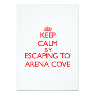 Keep calm by escaping to Arena Cove California 5x7 Paper Invitation Card