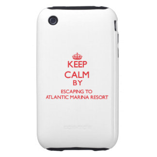 Keep calm by escaping to Atlantic Marina Resort Ma iPhone 3 Tough Cases