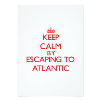 Keep calm by escaping to Atlantic New Jersey 5x7 Paper Invitation Card