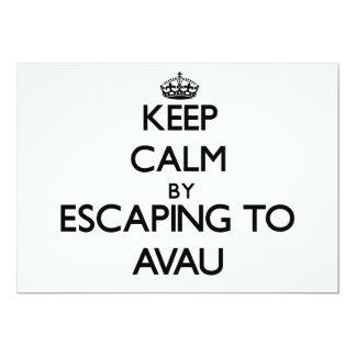 "Keep calm by escaping to Avau Samoa 5"" X 7"" Invitation Card"