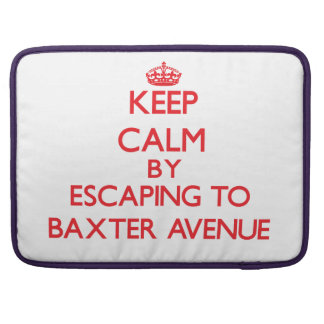 Keep calm by escaping to Baxter Avenue Massachuset Sleeves For MacBooks