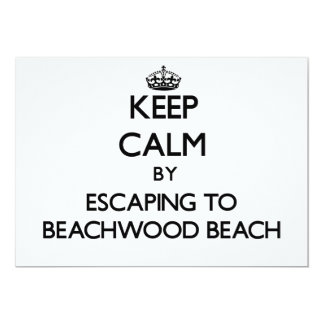 Keep calm by escaping to Beachwood Beach New Jerse 5x7 Paper Invitation Card