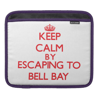 Keep calm by escaping to Bell Bay Michigan Sleeves For iPads
